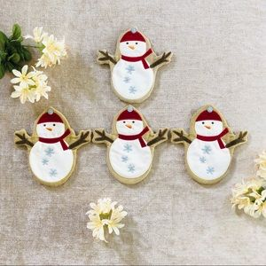 Other - Winter Snowman Utensil Christmas Pouches